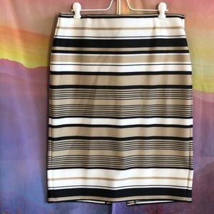 Roz & Ali striped pencil skirt